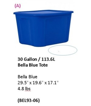 30 GAL SOLID BLUE 6 PCK