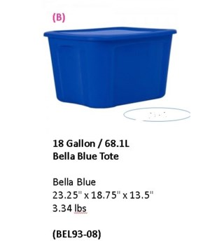 18 GAL TOTE BLUE 8 PCK