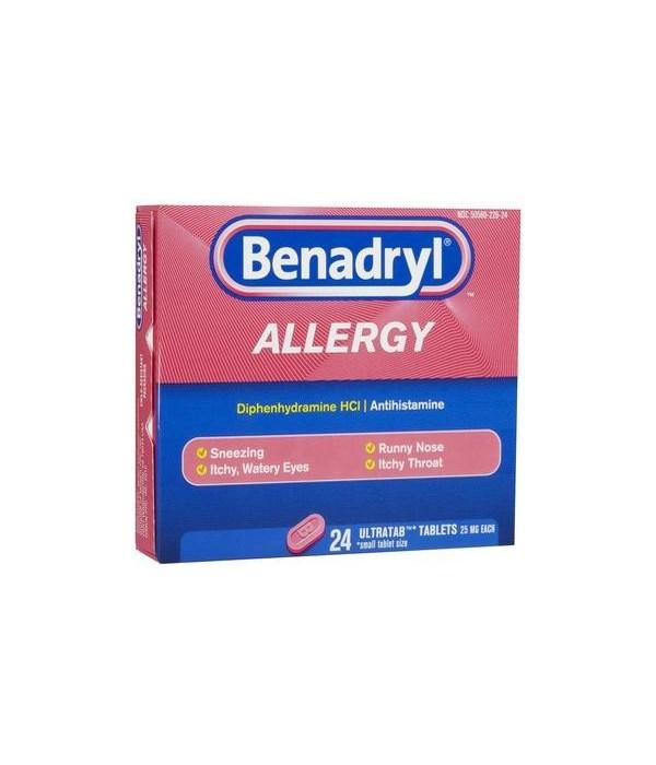 BENADRYL® TABLETS 12/24'S