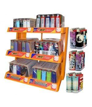 DISPLAY OF MIXED LIGHTERS (5 REG - 1 MINI) 6 TIER + 30 FREE LIGHTERS