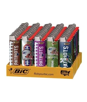 BIC L/E LIGHTER 50's- NFL- PATRIOTS