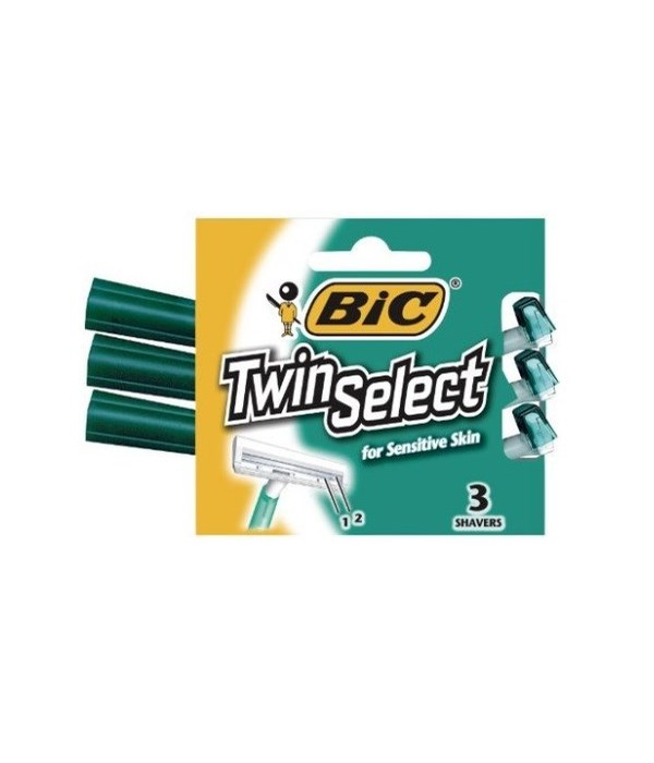 BIC SHAVER 3'S TWIN SELECT- FOR MEN- 72/CS