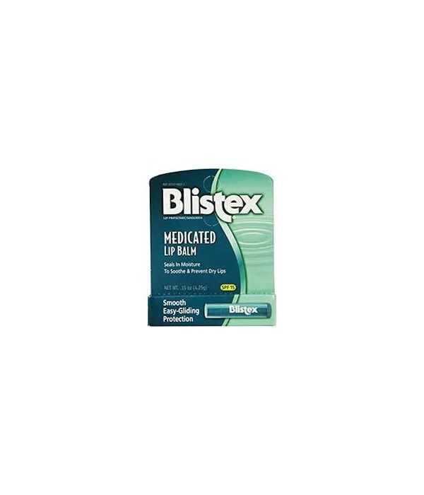 BLISTEX® MEDICATED LIP BALM DISPLAY 0.15oz (GREEN) - 24'S  (80240N)