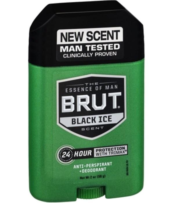 BRUT® SOLID STICK 2 OZ - BLACK ICE - 12/UNIT
