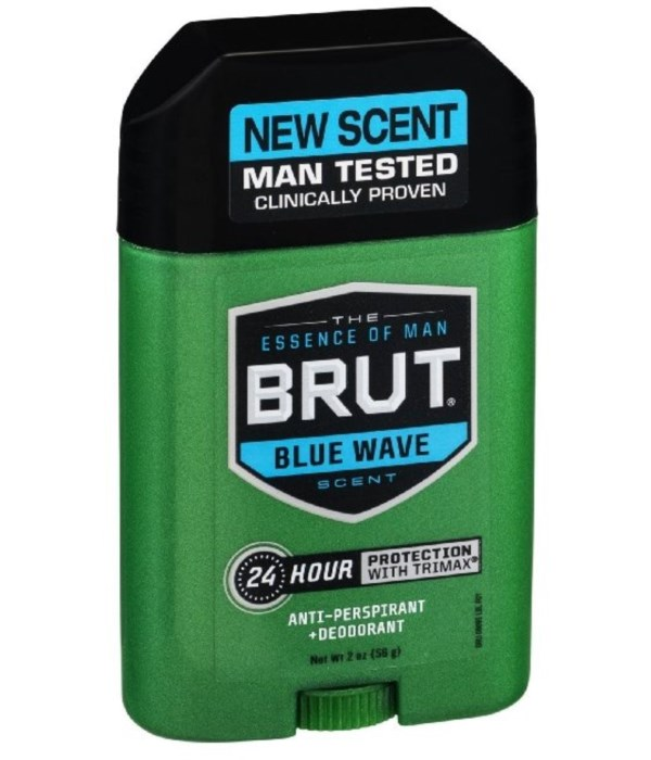 BRUT® SOLID STICK 2.25 OZ - BLUE WAVE - 12/UNIT
