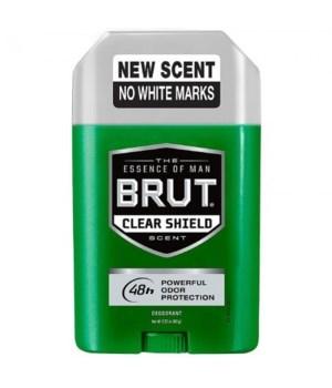 BRUT- CLEAR SHIELD OVAL DEO- 2.25oz- 4X3PK /CS (09100)