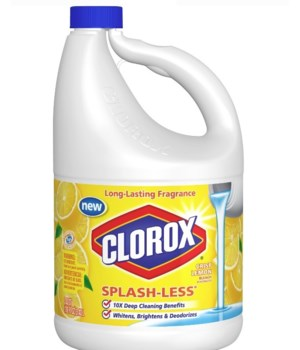 CLOROX® BLEACH LIQUID 116oz SPLASH-LESS FRESH LEMON- 3/CS  (31589)