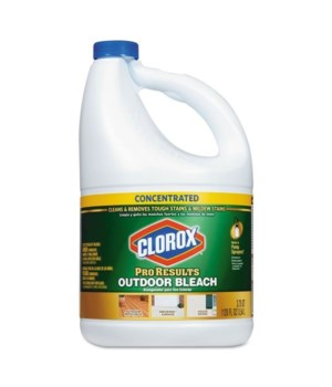 CLOROX® BLEACH LIQUID 120oz PRO RESULT OUTDOOR- 3/CS (30791) (31022) (30799)