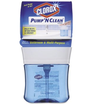 CLOROX® PUMP N' CLEAN 12oz- BATHROOM & MULTI PURPOSE RAIN CLEAN- 6/CS (31201)