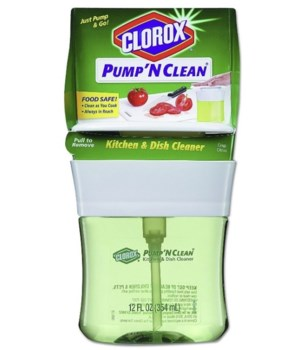CLOROX PUMP N' CLEAN 12oz- KITCHEN & DISH CLEANER CRISP CITRUS- 6/CS