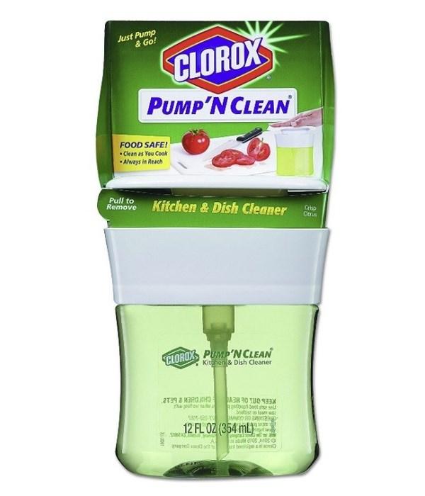 CLOROX PUMP N' CLEAN 12oz- KITCHEN & DISH CLEANER CRISP CITRUS- 6/CS