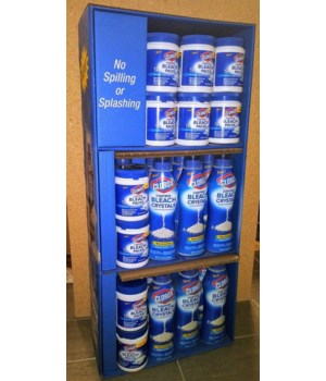 CLOROX� CONTROL BLEACH CRYSTALS 15/24oz + PACKS 12/12CT SHIPPER-  (DISPLAY)  (31435)