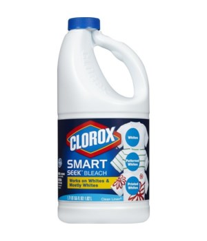 CLOROX- BLEACH LIQUID 55oz SMART SEEK CLEAN LINEN- 8/CS  (30785)