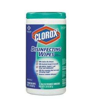 CLOROX® DISINFECTING WIPES 75CT- COMMERCIAL SOLUTION FRESH SCENT- 6/CS