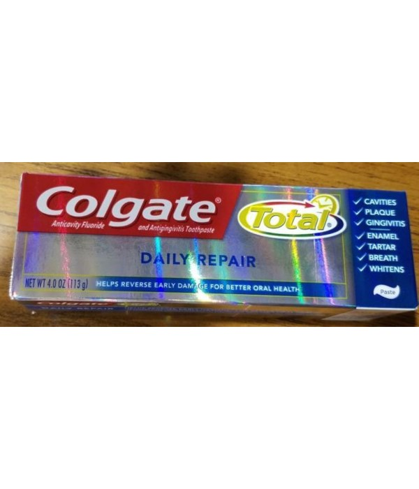 COLGATE® TOTAL TP 4 OZ - DAILY REPAIR  - 24/CS (76850)
