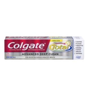 COLGATE TOTAL 5.8 OZ - ADVANCED DEEP CLEAN PASTE - 24/CS (76328)