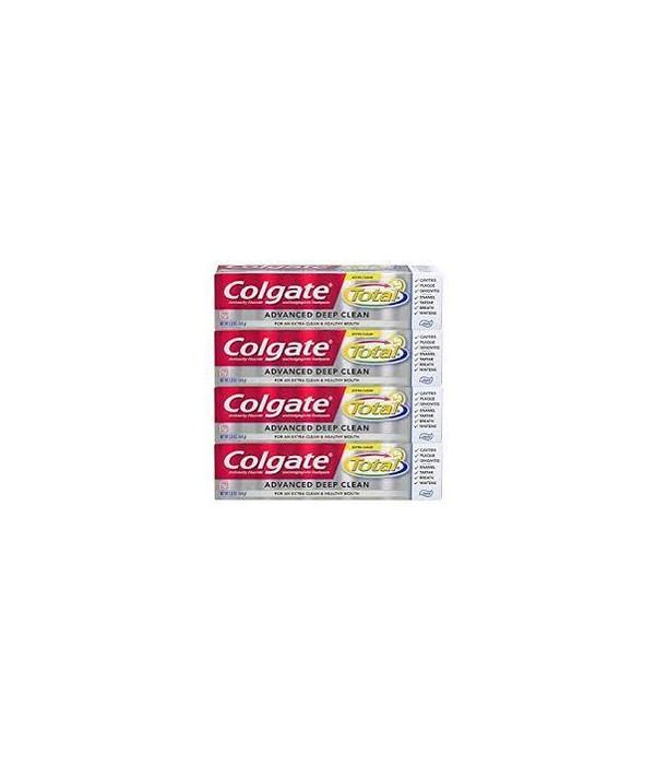 COLGATE TOTAL 5.8 OZ - ADVANCED DEEP CLEAN PASTE 4-PACK - 6/CS (5413A)