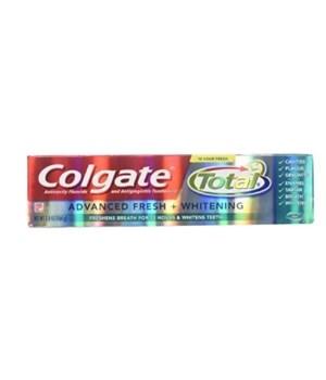 COLGATE 5.8 OZ TP - ADVANCED FRESH + WHITENING (76281)