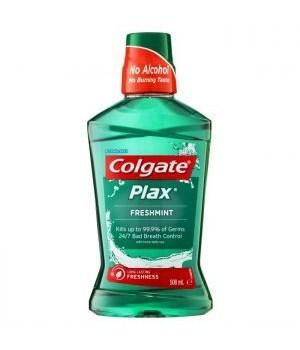 COLGATE® MOUTH WASH PLAX 500ml- FRESH MINT- 12/CS