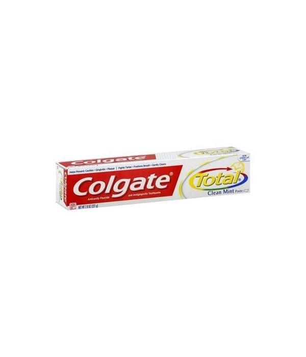 COLGATE® TP 7.8 OZ - TOTAL CLEAN MINT PASTE  - 24/CS (76316)