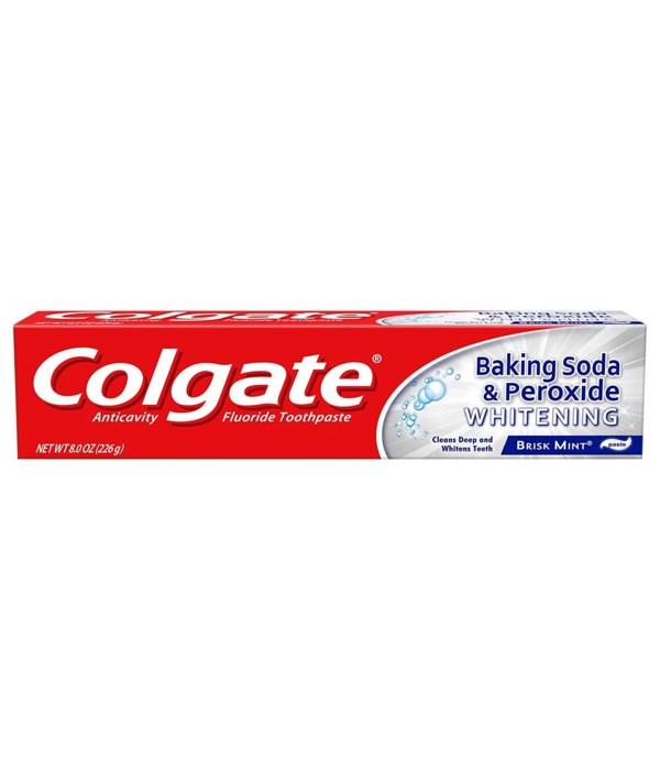 COLGATE® TP 8 OZ - BAKING SODA PEROXIDE WHITENING - 24/CS (51096)