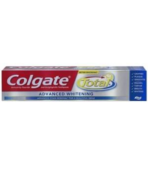 COLGATE® TP 8 OZ - TOTAL ADVANCED WHITENING PASTE - 24/CS (76343)