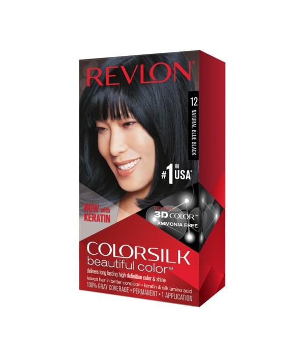 COLOR SILK® NATURAL BLUE BLACK - #12 - 12/CS