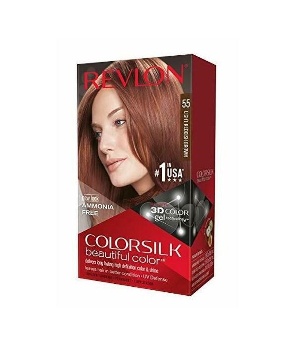 COLOR SILK® LIGHT REDDISH BROWN - #55 - 12/CS
