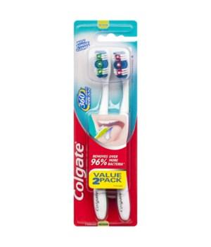 COLGATE® TOOTH BRUSH CLASSIC CLEAN 2PK- 12/UNIT (55372)