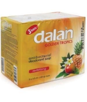 DALAN® BAR SOAP 3PK (3.17oz EACH) - ANTI BACT GOLD - 24/CS