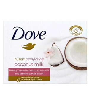 DOVE® BAR SOAP 100 GR - COCONUT OIL- (12  X 4PK) 48/CS