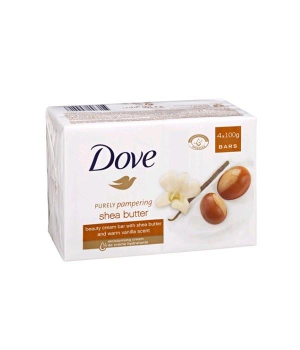 DOVE® BAR SOAP 100 GR - SHEA BUTTER - 48/CS