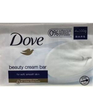 DOVE® BAR SOAP 100 GR - WHITE -( 12 X 4PK )  48/CS