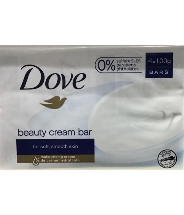 DOVE® BAR SOAP 100 GR - WHITE -( 12 X 4PK )  48/CS
