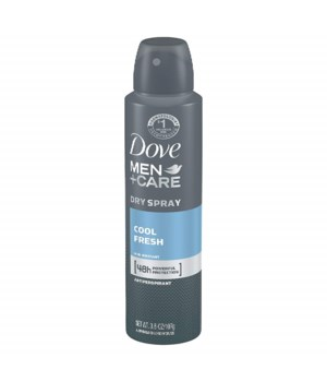 DOVE® DEODORANT SPRAY 150 ML - COOL FRESH FOR MEN - 12/UNIT