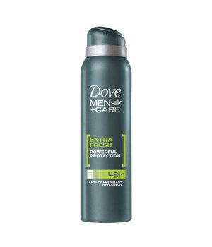 DOVE® DEODORANT SPRAY 150 ML - EXTRA FRESH FOR MEN - 12/UNIT