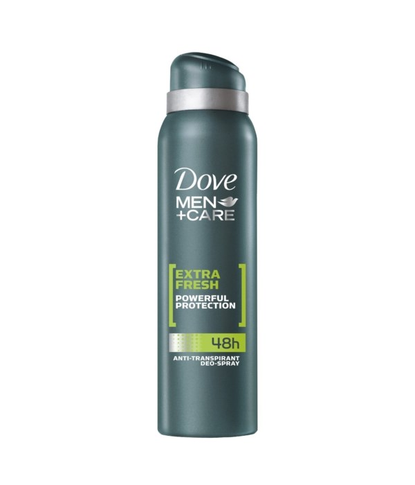 DOVE® DEODORANT SPRAY 150 ML - EXTRA FRESH FOR MEN - 12/UNIT