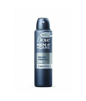 DOVE® DEODORANT SPRAY 150 ML - SILVER CONTROL FOR MEN - 12/UNIT