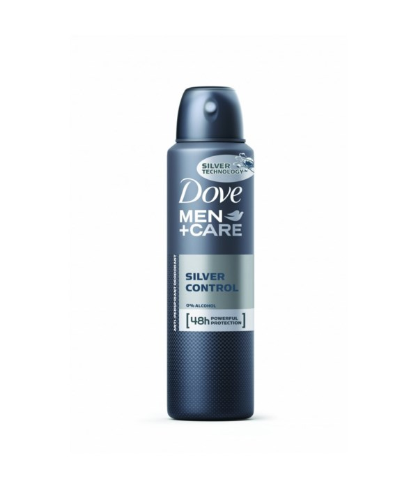 DOVE® DEODORANT SPRAY 150 ML - SILVER CONTROL FOR MEN - 12/UNIT
