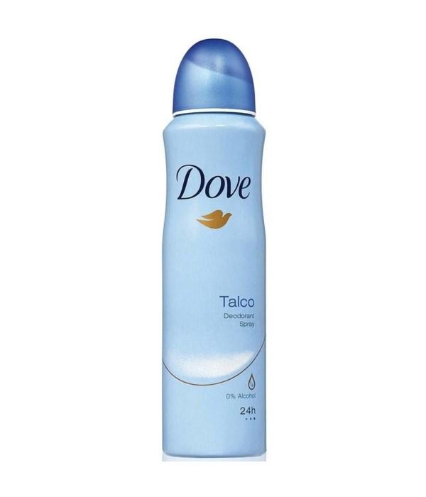 DOVE® DEODORANT SPRAY 150 ML - TALCO- 12/UNIT