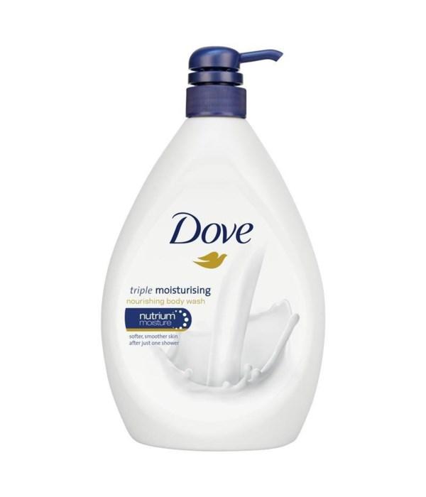 DOVE® BODY WASH 1 LTR - DEEPLY NOURISHING - 12/CS