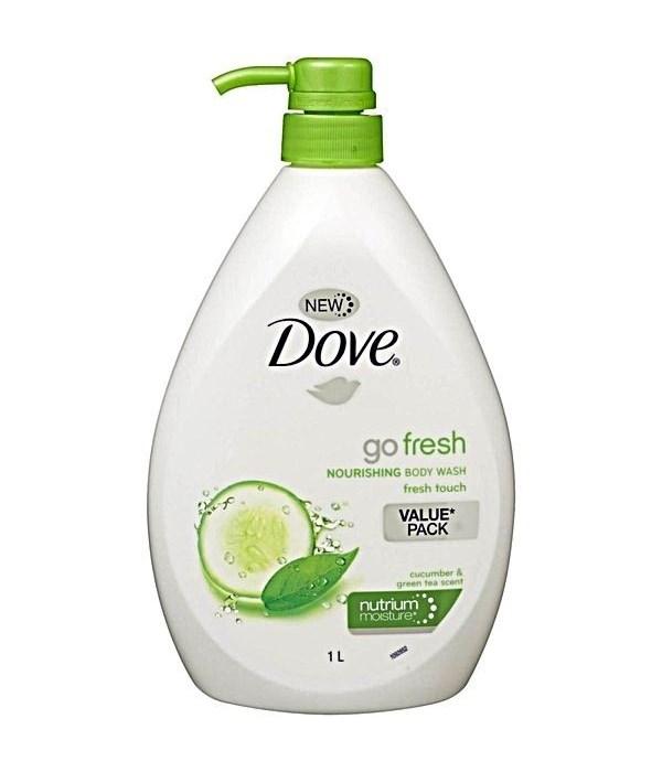 DOVE® BODY WASH 1 LTR - GO FRESH- FRESH TOUCH ( CUCUMBER ) - 12/CS