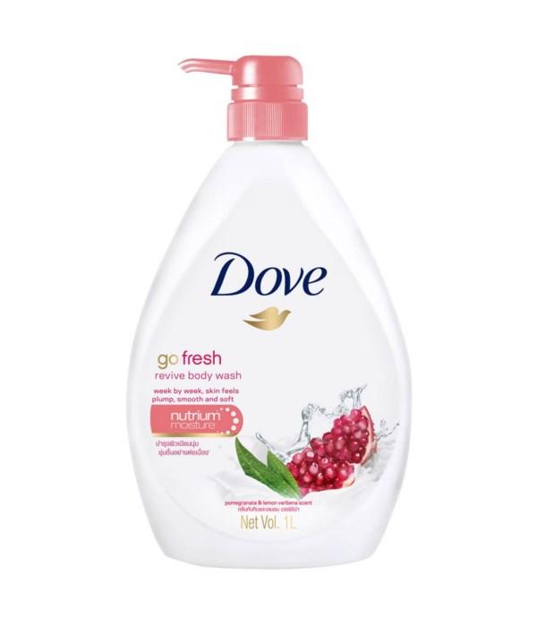 DOVE® BODY WASH 1 LTR - GO FRESH- REVIVE ( POMEGRANATE) - 12/CS