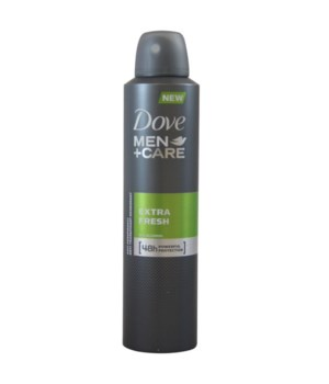 DOVE® DEODORANT SPRAY 250 ML - EXTRA FRESH FOR MEN- 12/UNIT