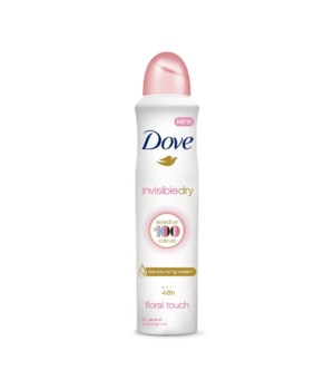 DOVE® DEODORANT SPRAY 250 ML - INVISIBLE DRY FLORAL TOUCH - 12/UNIT