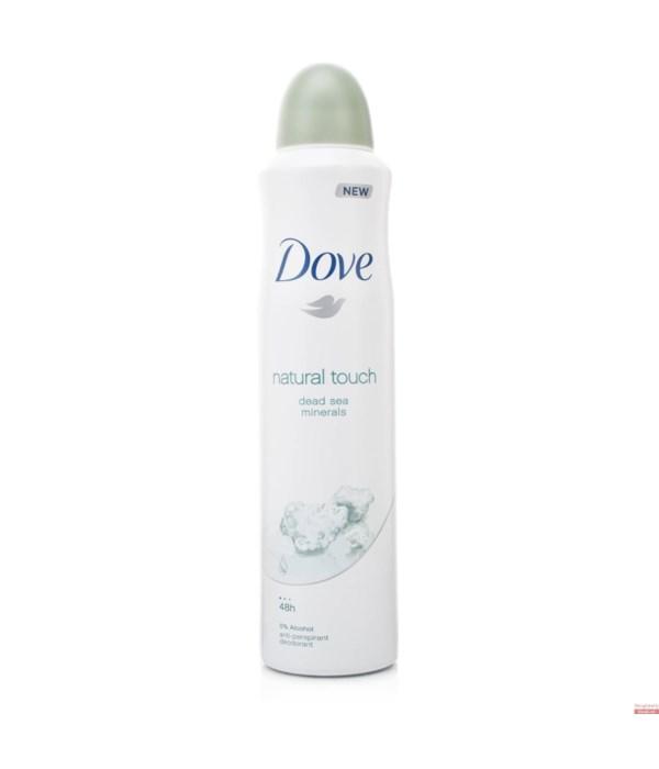 DOVE® DEODORANT SPRAY 250 ML - MINERAL TOUCH (WOMEN) - 12/UNIT