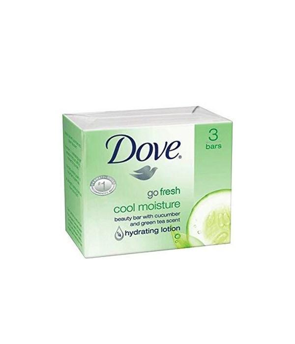 DOVE® BAR SOAP 3.17 OZ - COOL MOISTURE - 12 X 3PK