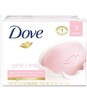 DOVE® BAR SOAP 3.17 OZ - PINK - 12 X 3PK