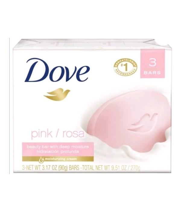 DOVE® BAR SOAP 3.17 OZ - PINK - 12 X 3PK