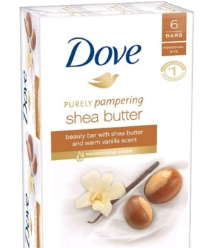 DOVE® BAR SOAP 3.17 OZ - SHEA BUTTER  - 6 X 6PK
